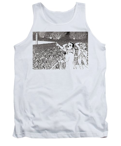 Martin Luther King Drawing Tank Top
