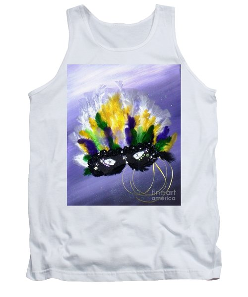 Tank Top featuring the painting Masque Over Bourbon Street by Alys Caviness-Gober