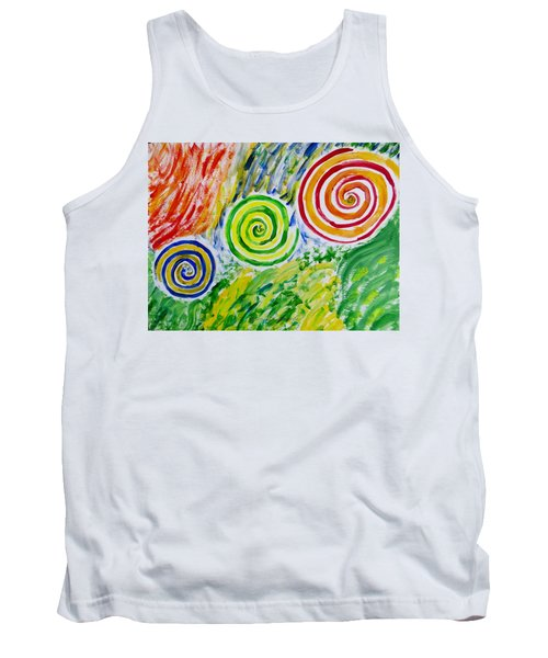 Tank Top featuring the painting Meditation by Sonali Gangane