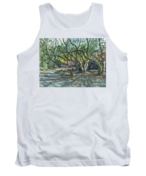 Tank Top featuring the painting Monk Trees Two by Donald Maier