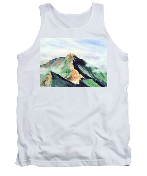 Tank Top featuring the painting Mountain  1 by Yoshiko Mishina