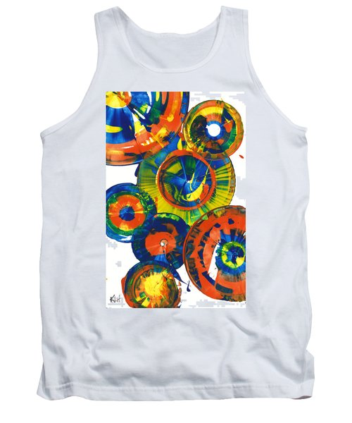 Tank Top featuring the painting My Magical Spheres    859.121811 by Kris Haas