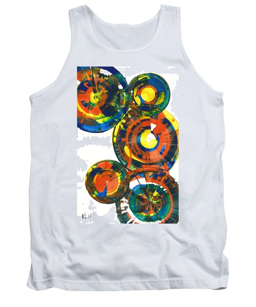 Tank Top featuring the painting My Spheres Show Happiness  864.121811 by Kris Haas