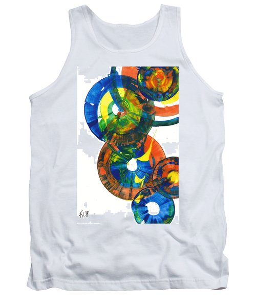 Tank Top featuring the painting My Spherical Joy '' Jump Up ''  858.121711 by Kris Haas