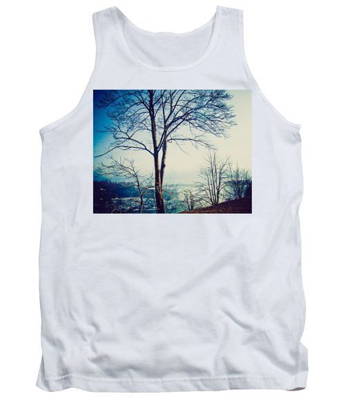 Tank Top featuring the photograph Mystic Blue by Sara Frank