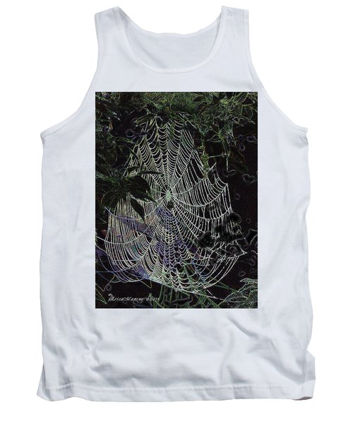 Tank Top featuring the photograph Night Lines by EricaMaxine  Price