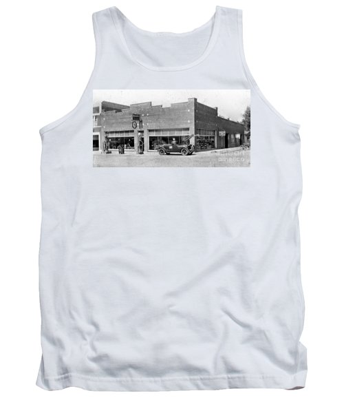 Old Car Gas Station Tank Top