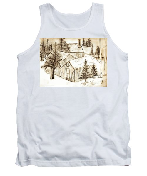 Tank Top featuring the drawing Old Colorado by Shannon Harrington