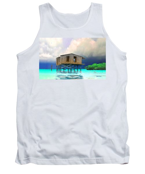 Old House Near The Storm Filtered Tank Top