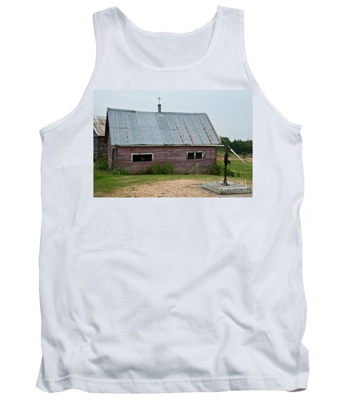 Tank Top featuring the photograph Old Wood Shed  by Barbara McMahon