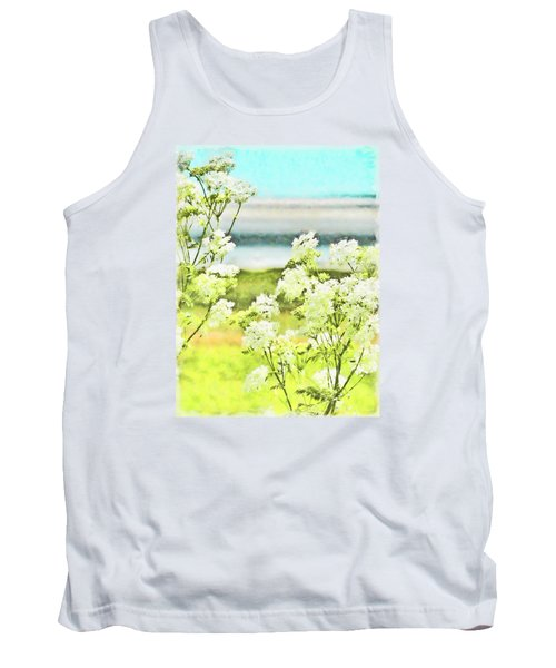 Tank Top featuring the digital art On The Mudflats Of Pegwell Bay by Steve Taylor