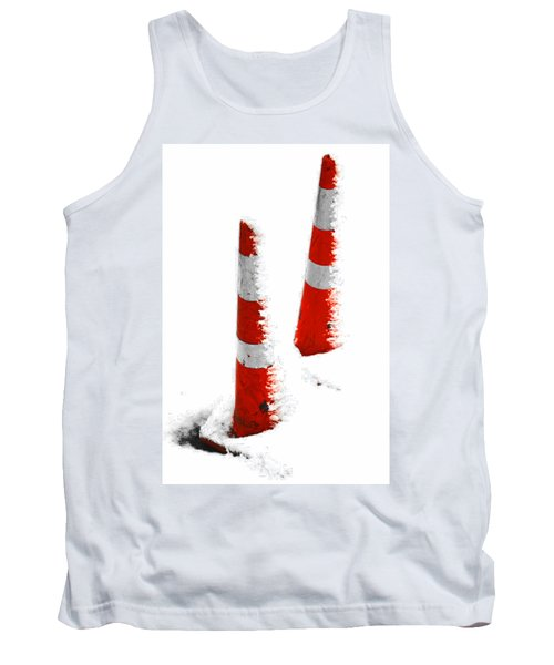 Tank Top featuring the digital art Orange Snow Cones by Steve Taylor