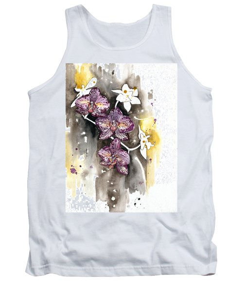 Tank Top featuring the painting Orchid 13 Elena Yakubovich by Elena Yakubovich