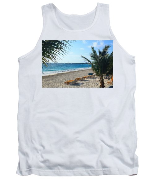 Tank Top featuring the photograph Orient Beach St Maarten by Catie Canetti