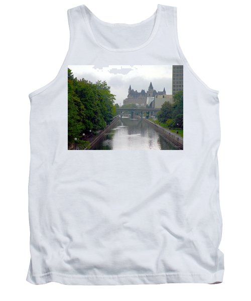 Ottawa Rideau Canal Tank Top by Valentino Visentini