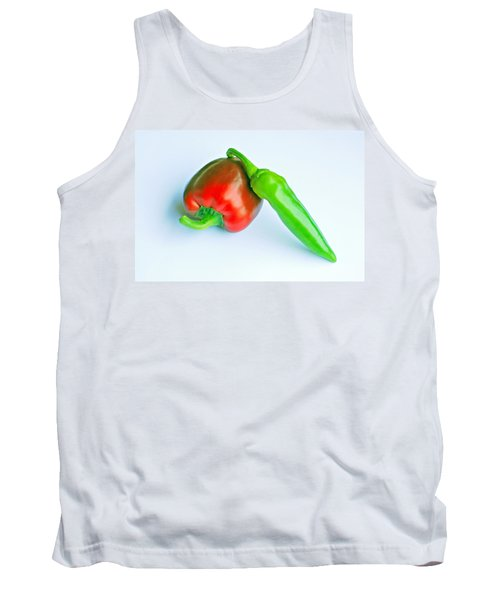 Tank Top featuring the photograph Peppers by Lisa Phillips