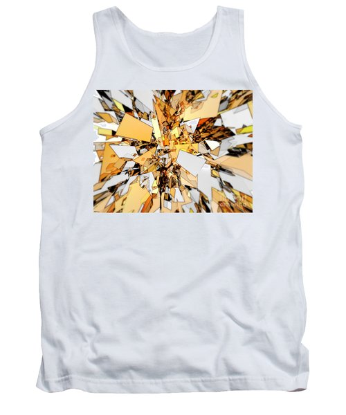 Tank Top featuring the digital art Pieces Of Gold by Phil Perkins