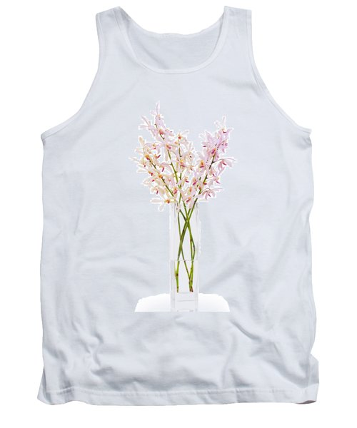 Pink Orchid In Vase Tank Top by Atiketta Sangasaeng