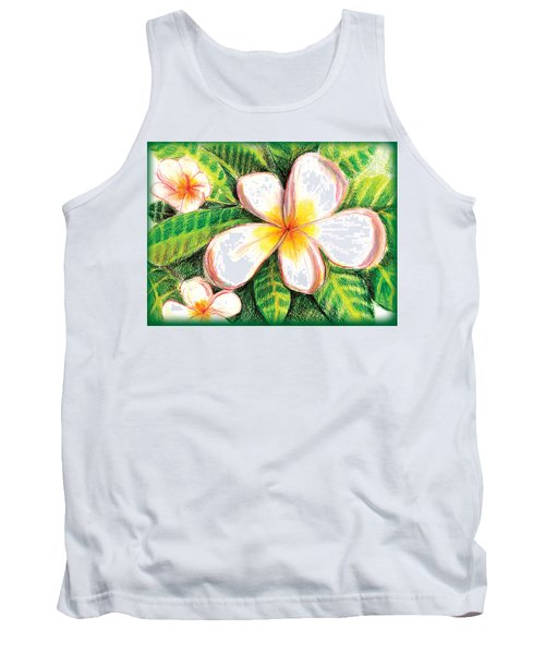 Plumeria With Foliage Tank Top