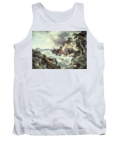 Point Lobos At Monterey In California Tank Top by Thomas Moran