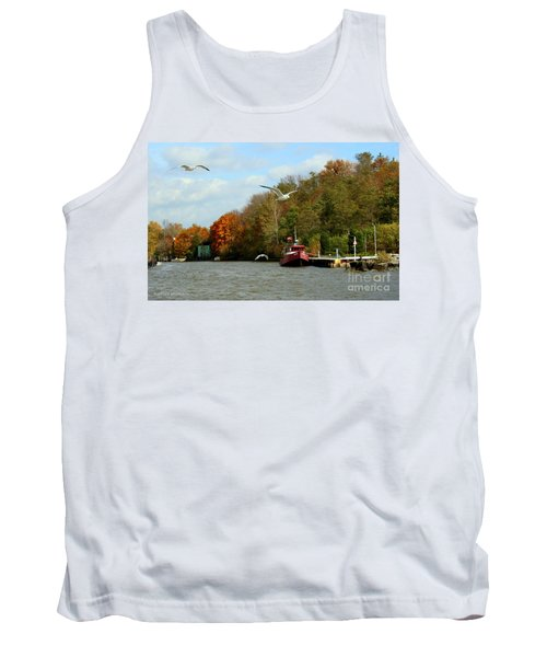 Tank Top featuring the photograph Port Dover Harbour by Barbara McMahon