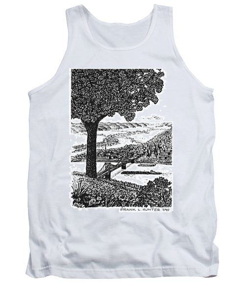 Portsmouth Ohio From A Kentucky Hill Tank Top by Frank Hunter