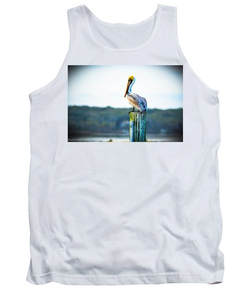 Tank Top featuring the photograph Posing Pelican by Shannon Harrington