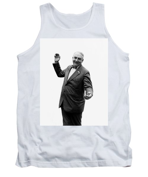 Tank Top featuring the photograph President Warren G Harding - C 1920 by International  Images