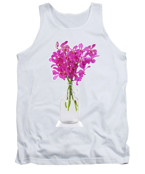 Purple Orchid In Bottle Tank Top by Atiketta Sangasaeng