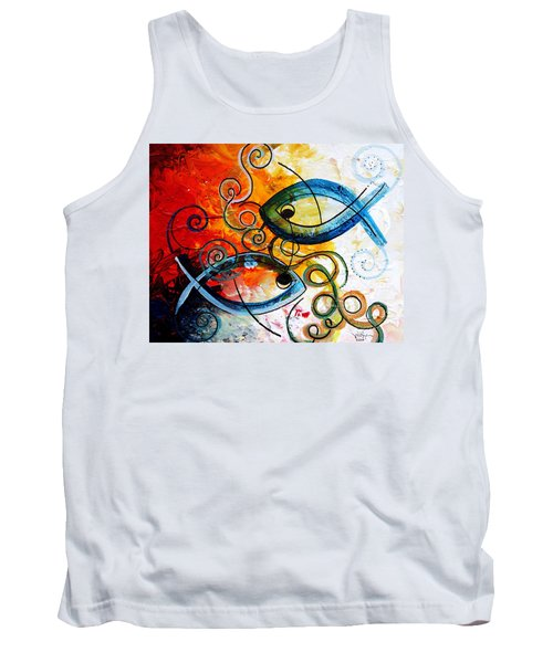 Purposeful Ichthus By Two Tank Top
