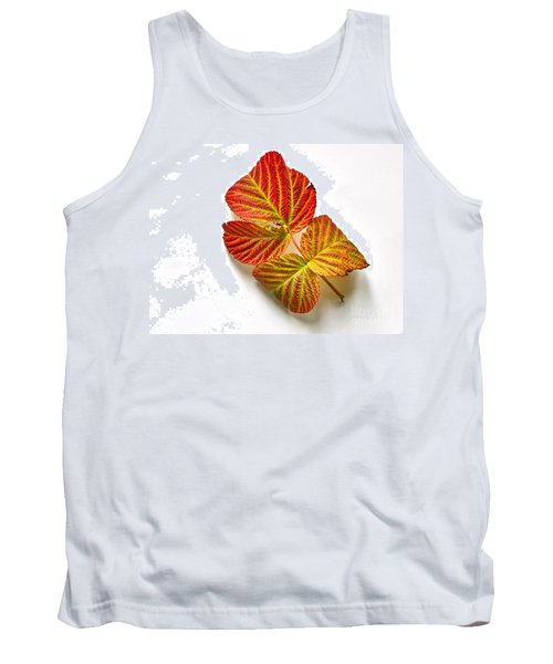 Raspberry Leaves In Autumn Tank Top by Sean Griffin