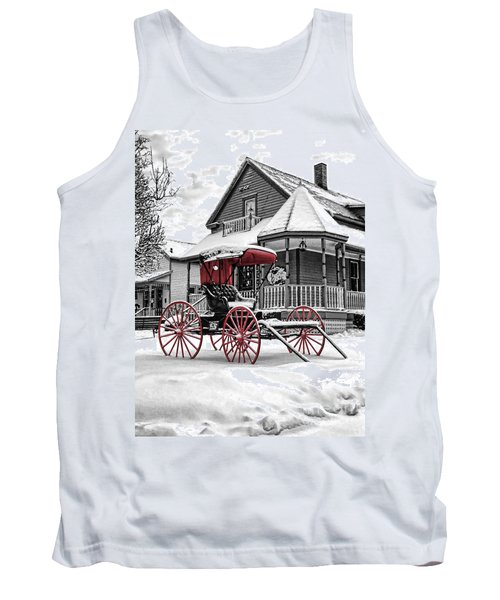 Tank Top featuring the photograph Red Buggy At Olmsted Falls - 2 by Mark Madere