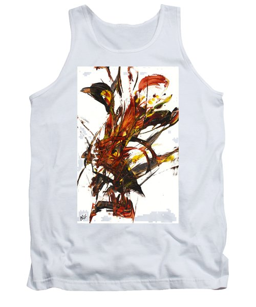 Tank Top featuring the painting Red Flame II 65.121410 by Kris Haas