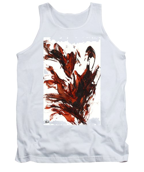 Tank Top featuring the painting Red Flame IIi 64.121410 by Kris Haas
