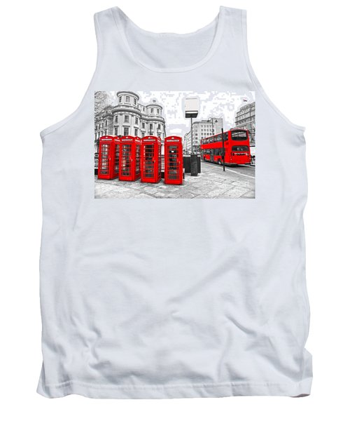Tank Top featuring the photograph Red London by Luciano Mortula