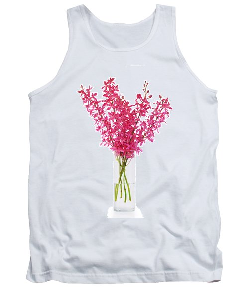 Red Orchid In Vase Tank Top by Atiketta Sangasaeng