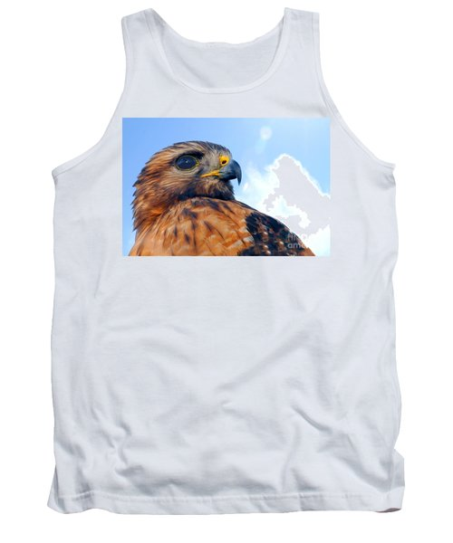 Tank Top featuring the photograph Red Shouldered Hawk Portrait by Dan Friend