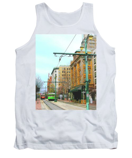 Tank Top featuring the photograph Red Trolley Green Trolley by Lizi Beard-Ward