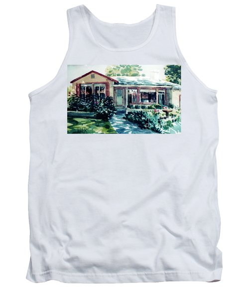 Tank Top featuring the painting Redwood City House #2 by Donald Maier