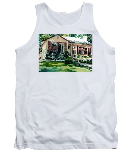 Tank Top featuring the painting Redwood City House #3 by Donald Maier