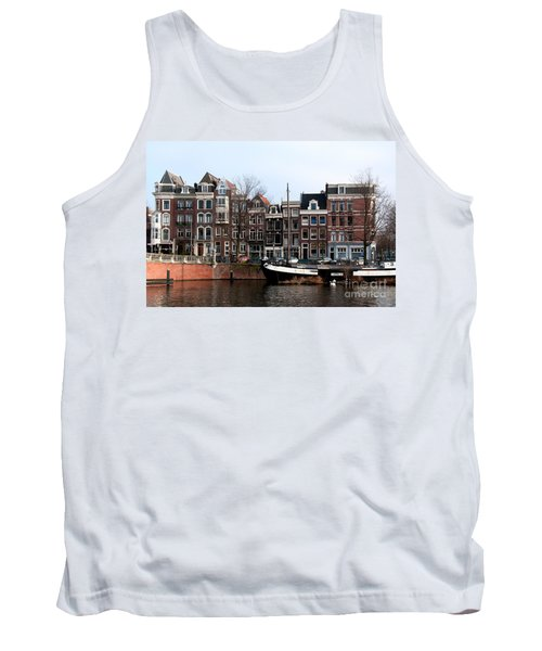 River Scenes From Amsterdam Tank Top by Carol Ailles