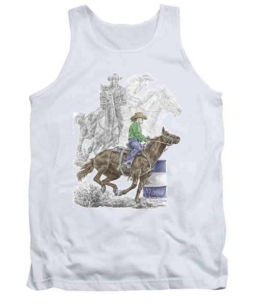 Running The Cloverleaf - Barrel Racing Print Color Tinted Tank Top