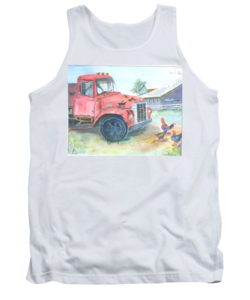 Rusty Truck Tank Top by Christine Lathrop