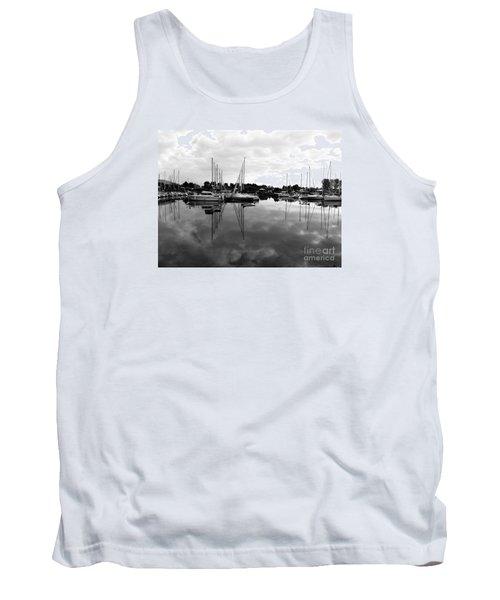 Tank Top featuring the photograph Sailboats At Bluffers Marina Toronto by Susan  Dimitrakopoulos