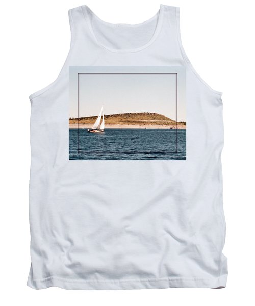 Tank Top featuring the photograph Sailing On Carter Lake by David Pantuso