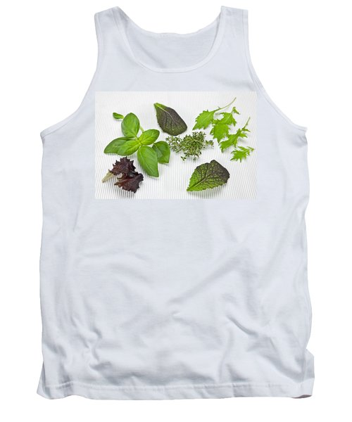 Salad Greens And Spices Tank Top by Joana Kruse