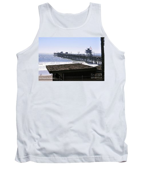 San Clemente Pier California Tank Top by Clayton Bruster