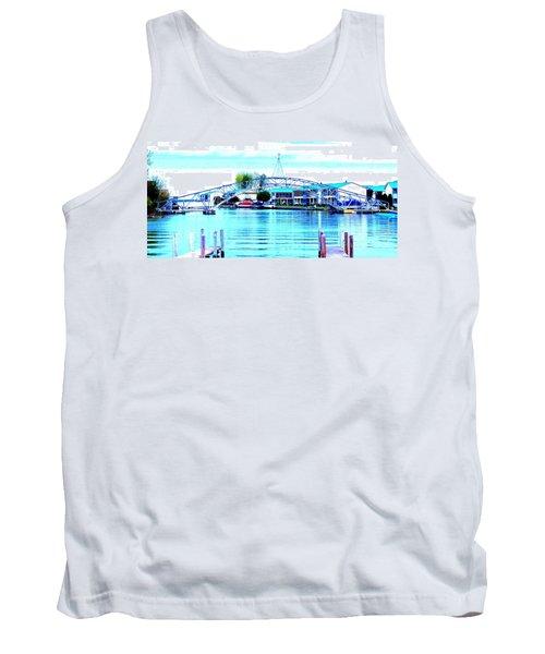 Sandy Beach Bridge Tank Top by Lisa Brandel