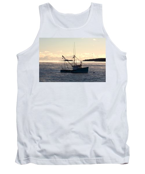 Sea-smoke On The Harbor Tank Top by Brent L Ander