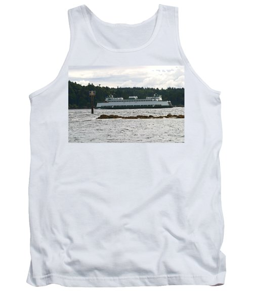 Tank Top featuring the photograph Sealth Ferryboat Rich Passage by Kym Backland